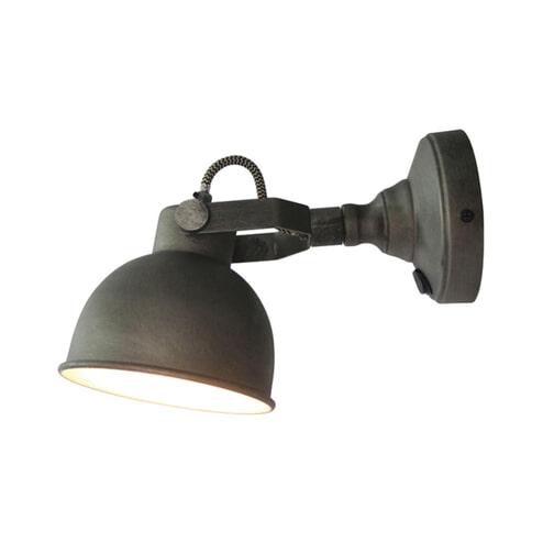 LABEL51 wandlamp 'Led Bow L', kleur Burned Steel