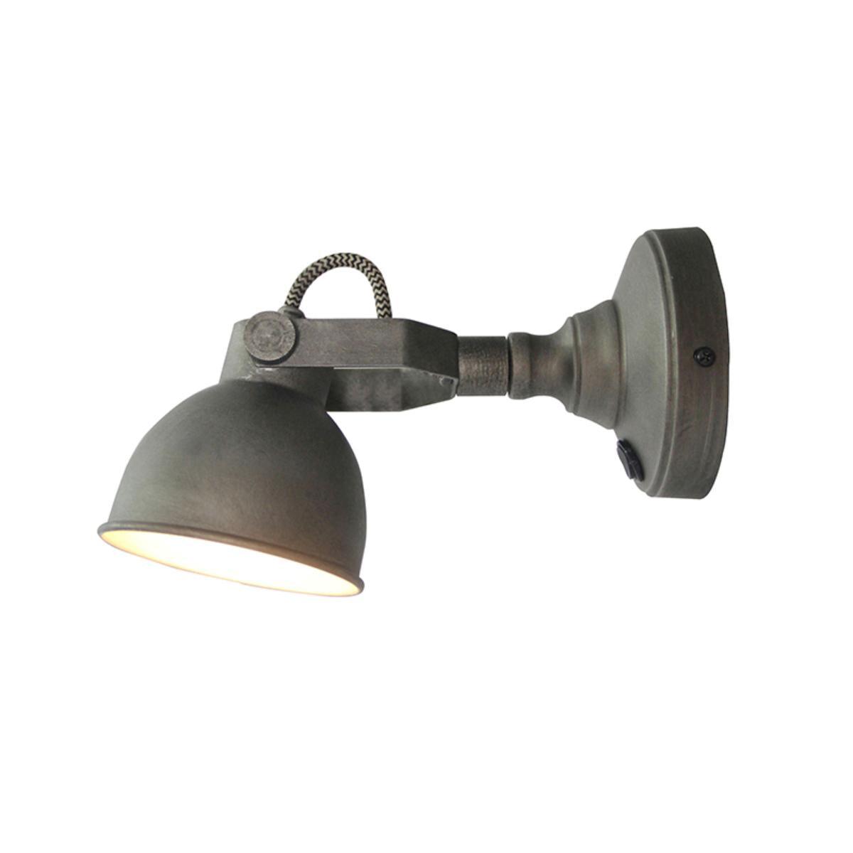 LABEL51 wandlamp 'Led Bow M', kleur Burned Steel