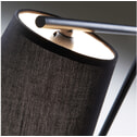 LaForma Tafellamp 'Nottley' kleur zwart