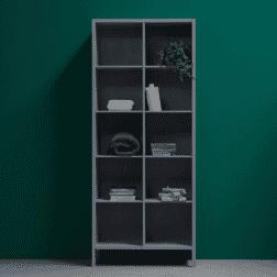 WOOOD Boekenkast 'Laura' 90cm, kleur Betongrijs