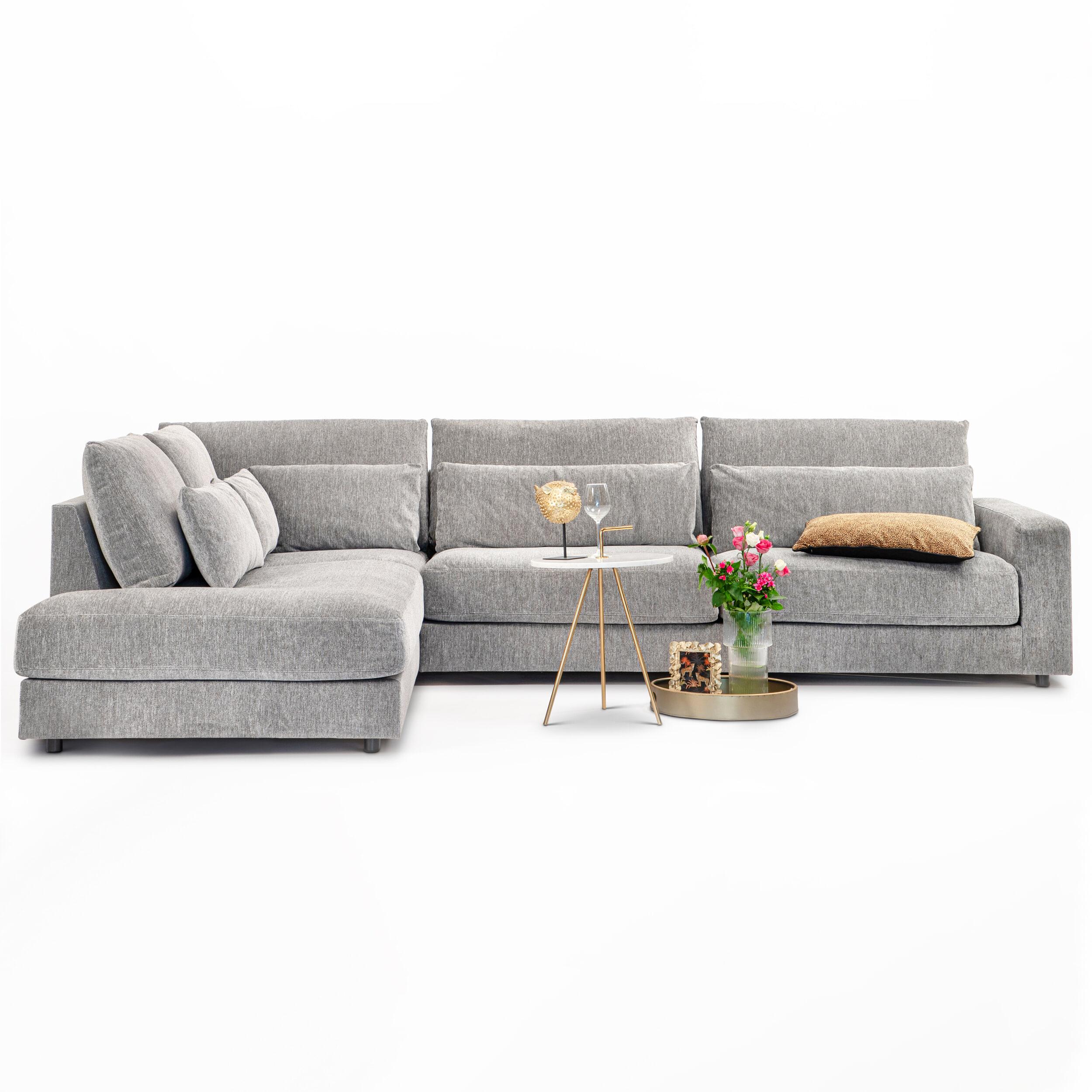 Sohome Hoekbank 'Willem'-Lichtgrijs-Lounge links