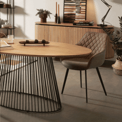 Kave Home Ovale Eettafel 'Leska' 200 x 110cm, kleur Naturel
