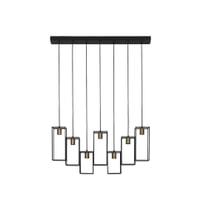 Light & Living Hanglamp 'Divera' 7-Lamps, mat zwart