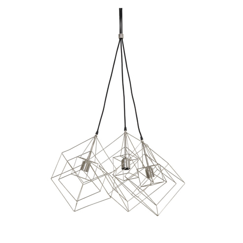 Light & Living Hanglamp 'Kubinka' 3-Lamps, mat tin