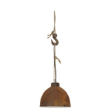 Light & Living Hanglamp 'Melissa' 40cm, roest+hout weather barn
