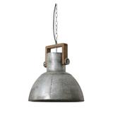 Light & Living Hanglamp 'Shelly' 40cm, hout weather barn-vintage zilver, kleur Metaal