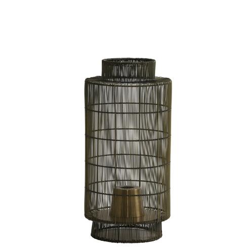 Light & Living Tafellamp 'Gruaro' lantaarn, draad antiek brons