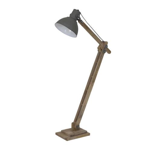 Light & Living Vloerlamp 'Elmer', hout naturel+cement