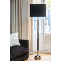 Light & Living Vloerlamp 'Floris' rond H130 cm, nikkel