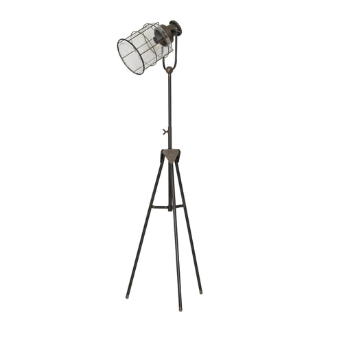 Light & Living Vloerlamp 'Greg' driepoot, tin brons
