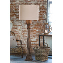 Light & Living Vloerlamp 'Robbia' 23x23x125 cm, hout weather barn