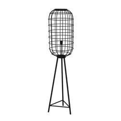 Light & Living Vloerlamp 'Toah', mat zwart-antiek brons