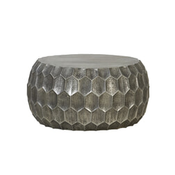 Light & Living Bijzettafel 'Kalan', antiek zilver