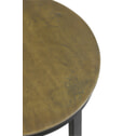 Light & Living Bijzettafel 'Retiro' zuil, mat zwart+ruw antiek brons