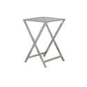 Light & Living bijzettafel 'Soro', steel polish met glazen blad