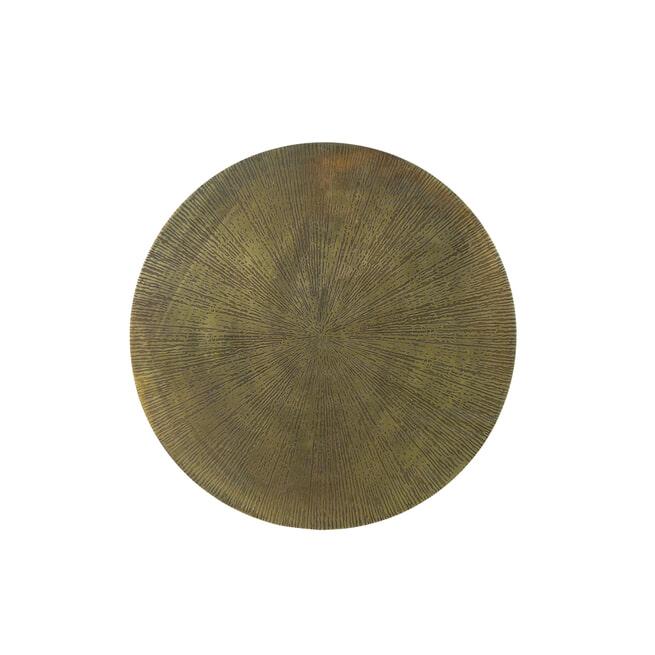 Light & Living Bijzettafel 'Zuco', star antiek brons-mat zwart