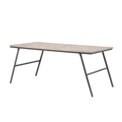 Light & Living Eettafel 'Macas', verweerd hout-antiek grijs