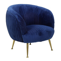 Light & Living Fauteuil 'Tilton', velvet blauw