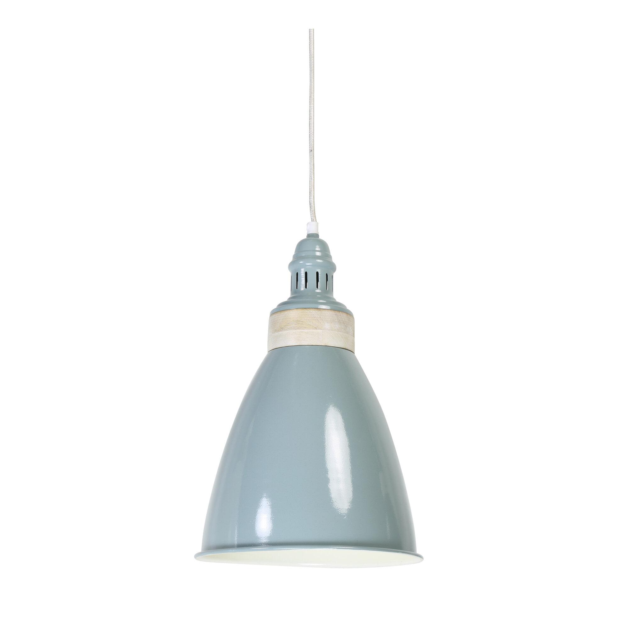 Light & Living Hanglamp 'Aimy' 25cm, kleur grijs-blauw