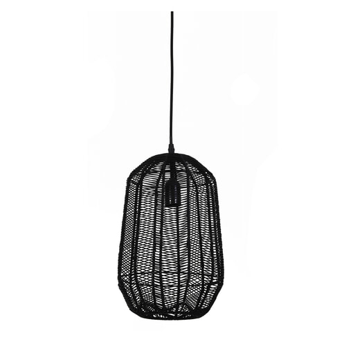 Light & Living Hanglamp 'Aukje' 24.5cm, rotan zwart