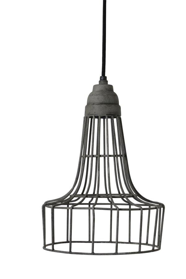 Light & Living Hanglamp 'Babette' 20cm, kleur cement