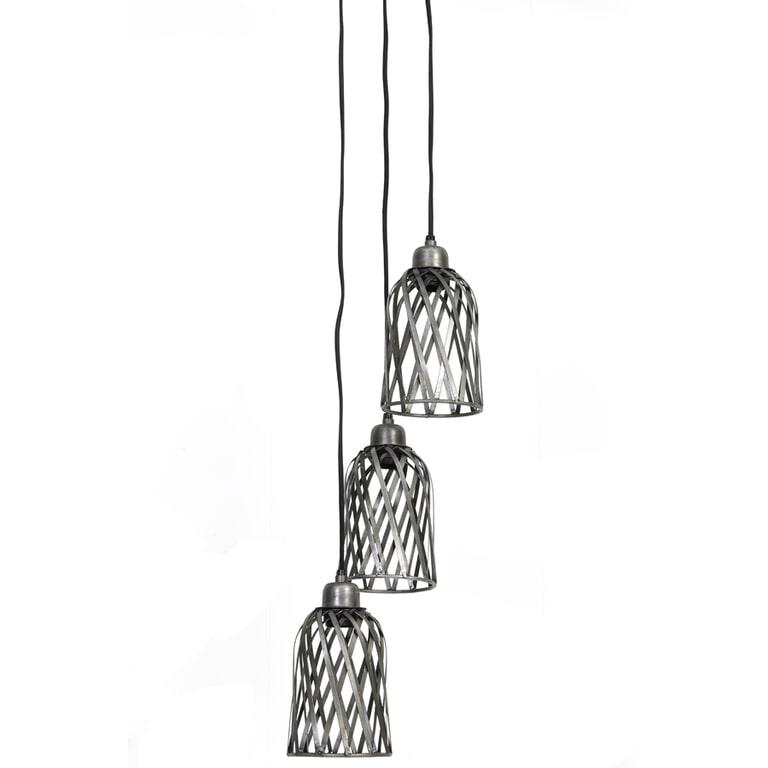 Light & Living Hanglamp 'Batica' 21cm, antiek zink