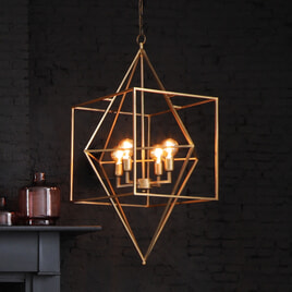 Light & Living Hanglamp 'Baula' 4-Lamps, antiek goud