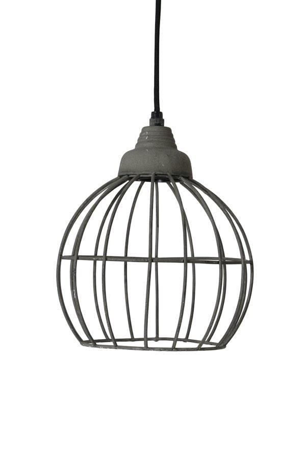Light & Living Hanglamp 'Benthe' 20cm, kleur cement