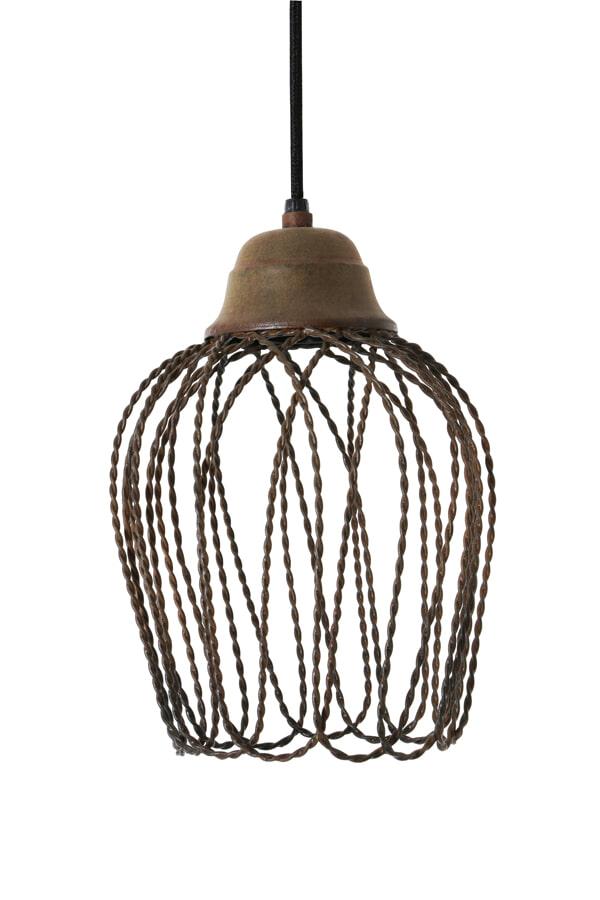 Light Living Hanglamp 'Bettina' 20cm, kleur oud roest