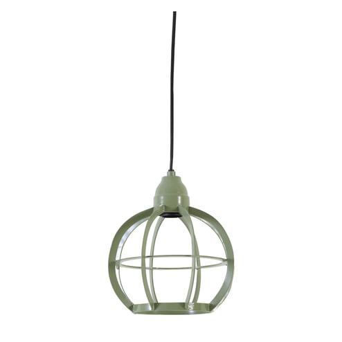 Light & Living Hanglamp 'Bibi' 23cm, mat groen