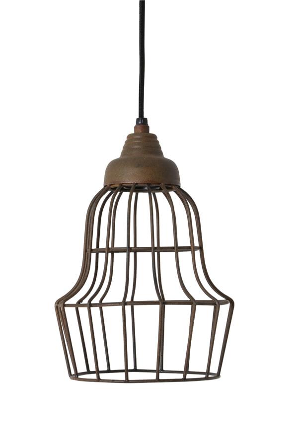Light & Living Hanglamp 'Birke' 17cm, kleur roest