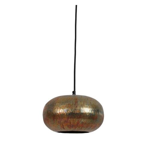 Light & Living Hanglamp 'Chakota' 27cm, mat regenboog patina