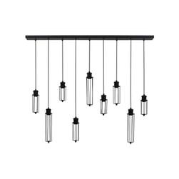 Light & Living Hanglamp 'Dagmar' 9-Lamps, zwart