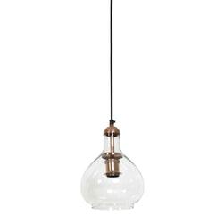 Light & Living Hanglamp 'Dela' Ø19x28 cm, glas koper