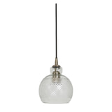 Light & Living Hanglamp 'Destiney' 16cm, glas antiek brons