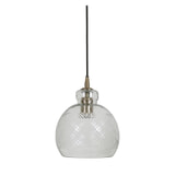 Light & Living Hanglamp 'Destiney' 21cm, glas antiek brons