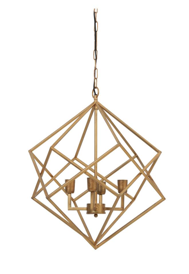 Light Living Hanglamp 'Drizella' 4 Lamps, goud