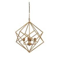 Light & Living Hanglamp 'Drizella' 4-Lamps, goud