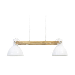 Light & Living Hanglamp 'Elay' 2-Lamps, hout naturel-wit