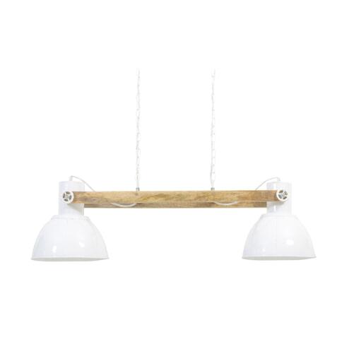 Light & Living Hanglamp 'Elay' 2-Lamps, hout naturel-wit