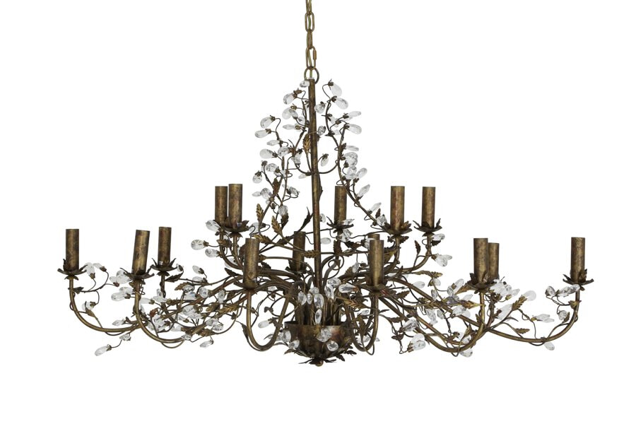 Light & Living Hanglamp 'Evita' 15 lichts 122x72x150 cm E14, bruin, kleur Bruin