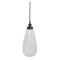 Light & Living Hanglamp 'Ghita' 20cm, glas antiek brons