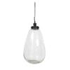 Light & Living Hanglamp 'Ghita' 30cm, glas antiek brons