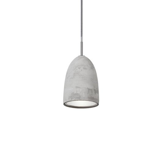 Light & Living Hanglamp 'Hannover' Ø14 cm, E14 beton met reflector