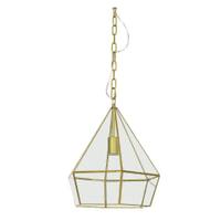 Light & Living Hanglamp 'Hidaya' 33cm, brons-helder glas
