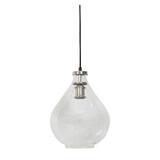 Light & Living Hanglamp 'Ilze' 36cm, glas nikkel