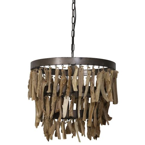 Light & Living Hanglamp 'Jaloe' 52cm, naturel bruin