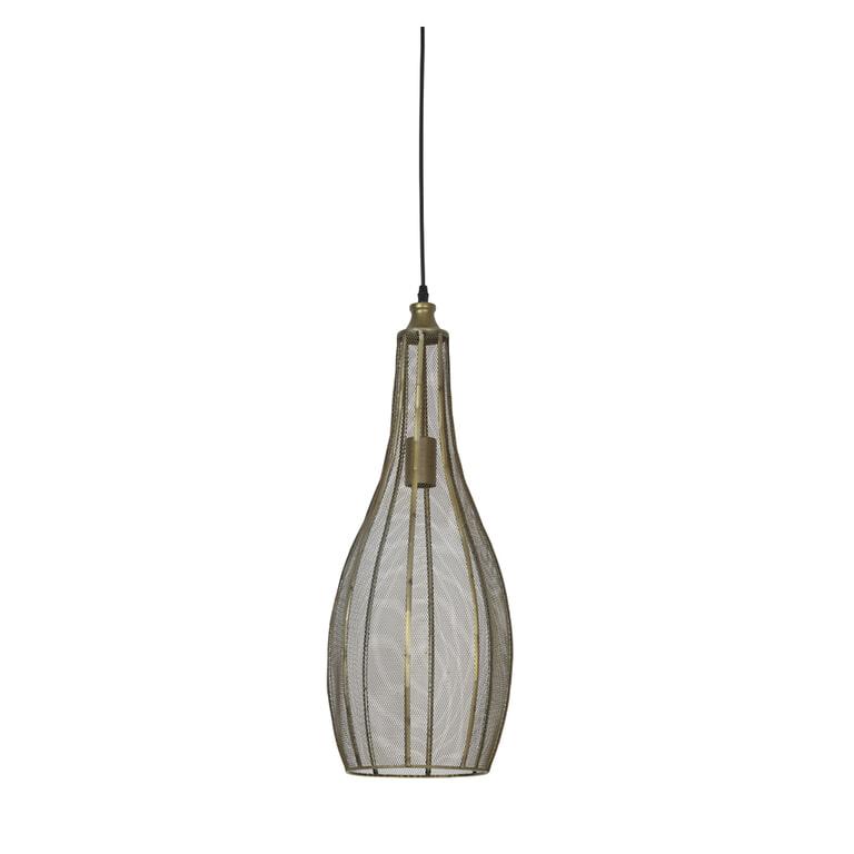 Light & Living Hanglamp 'Kamila' 26cm, gaas brons