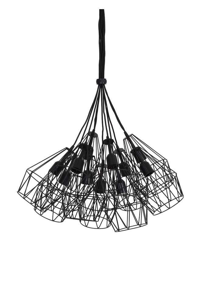 Light Living Hanglamp 'Kobaka' 20cm, mat zwart