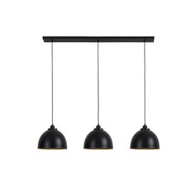 Light & Living Hanglamp 'Kylie' 3-Lamps, mat zwart-goud